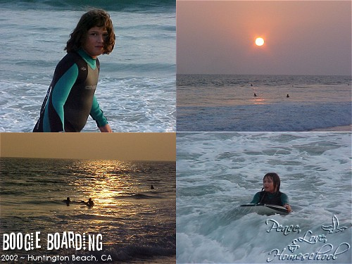 Boogie Boarding ~ Huntington Beach, CA ~ 2002