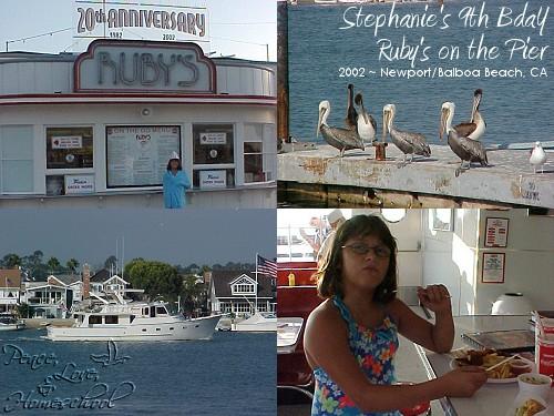 Stephanies 9th Birthday at Rubys on the Pier, Newport Balboa, CA ~ 2002
